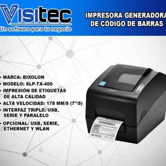 Impresora Generadora de Código de Barras SLP TX 400