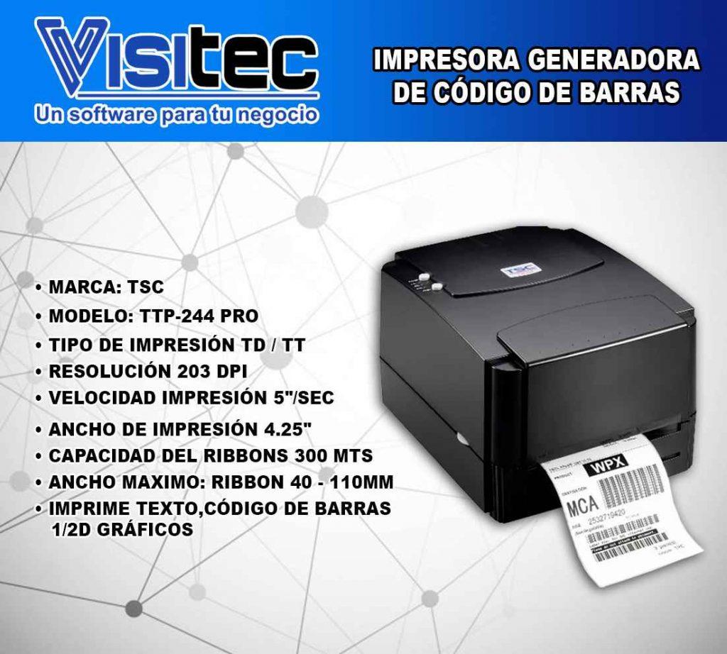 Impresora Generadora de Código de Barras TPP 244 Pro