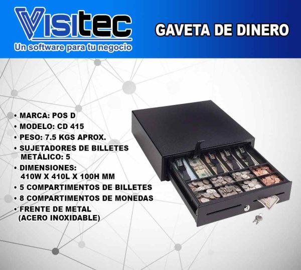 Gaveta de Dinero CD 415
