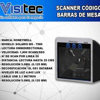 Scanner de Código de Barras Solaris MS 7980