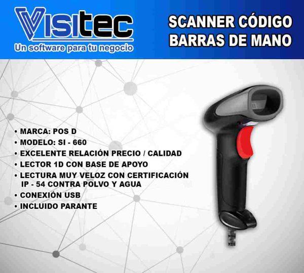 Scanner de Código de Barras SI 660